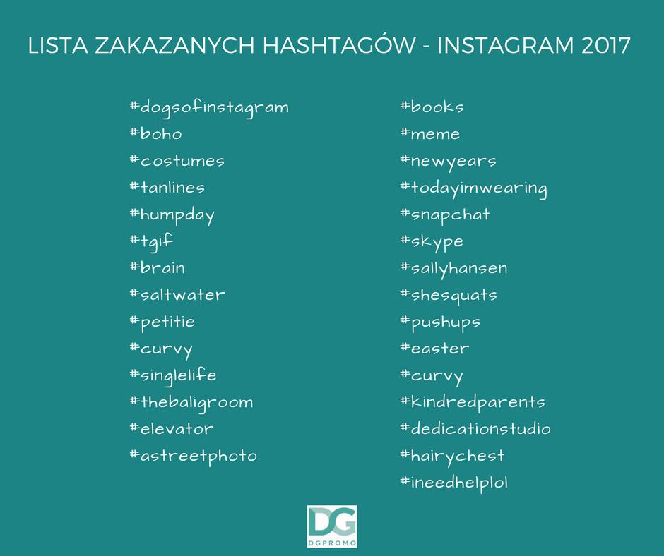 Lista zakazanych hashtagow 2017